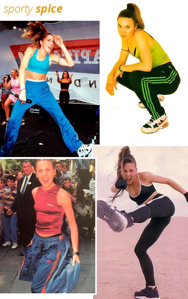 sporty spice - mel c - anos 90 - estilo - spice girls