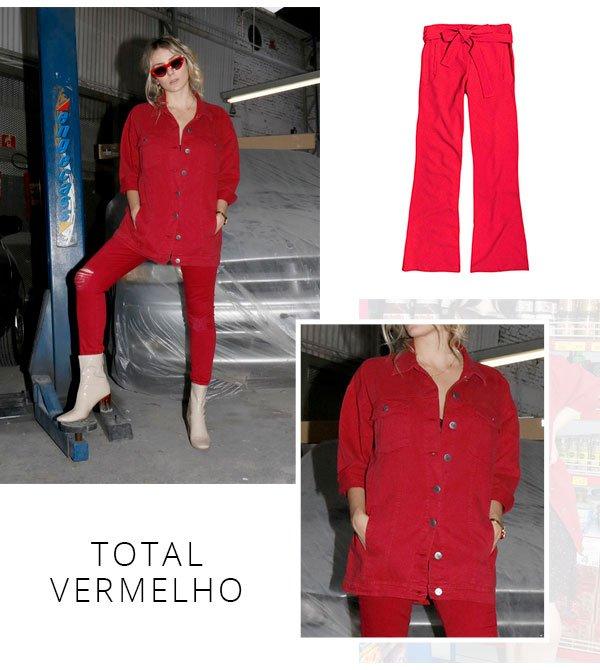 total vermelho - look - red - dzarm - como