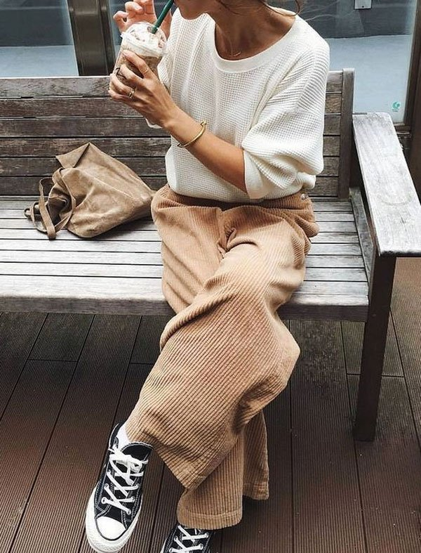 it-girl - tricot-calça-cotele-all-star - tênis - inverno - street style