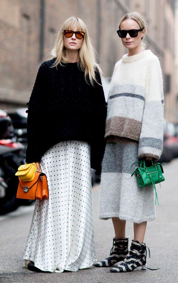 it girl - tricot-preto-saia-poa - tricot - inverno - street style
