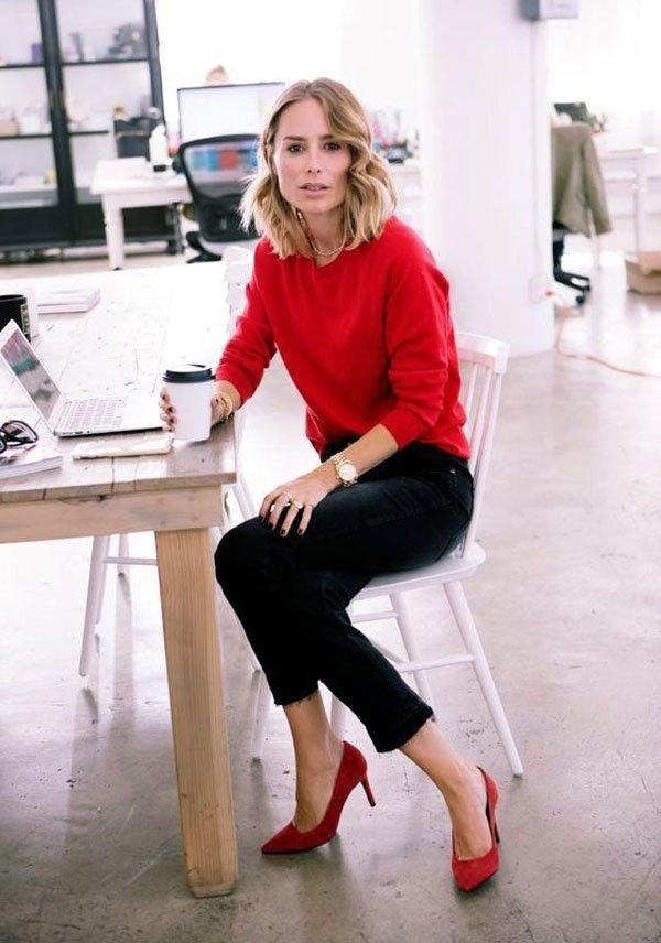 it-girl - tricot-vermelho-calça-preta-scarpin - tricot - inverno - office-look