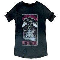 Vestido Camiseta Em Algodão Com Lavanderia Spray