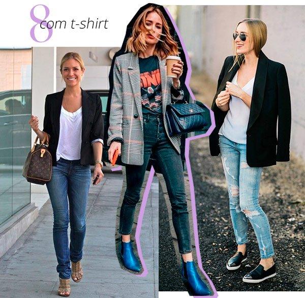 t-shirt - blazer - como usar - conjunto - trend