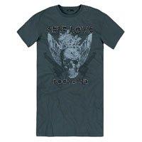 Vestido T-Shirt Em Malha Com Estampa E Spikes - Ready To Rock