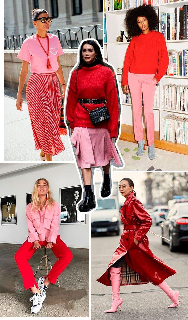 vermelho - rosa - looks - mono - como usar