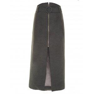 Saia Lápis Wool Grey Framed Tamanho: 42 - Cor: Cinza