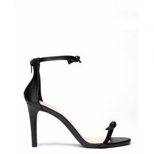 Sandália Salto Fino Mini Laço