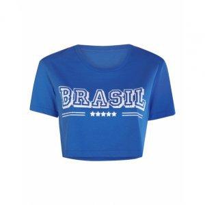 T-Shirt Cropped Brasil