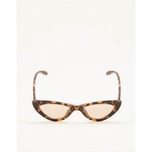 Óculos De Sol Retrô Cat Eye Marrom Tamanho: U - Cor: Marrom