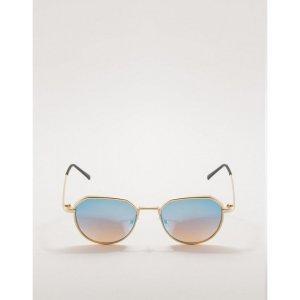 Óculos De Sol Retrô Azul Tamanho: U - Cor: Azul