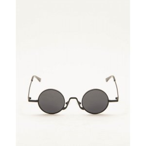 Óculos De Sol Slim Round Preto Tamanho: U - Cor: Preto