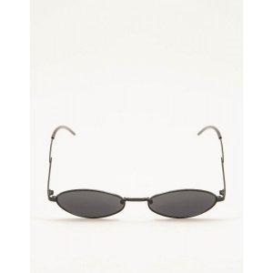 Óculos De Sol Slim Retrô Preto Tamanho: U - Cor: Preto