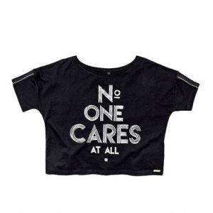 T-Shirt Cropped Em Algodão Com Estampa Localizada Dzarm