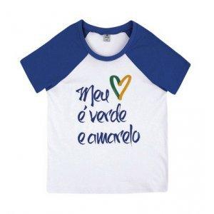Blusa Feminina Com Mangas Contrastantes Para Torcer Pelo Brasil