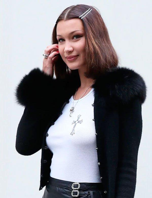 Bella Hadid/Reprodução - cabelo-tic-tac-fios-penteado - tic-tac-fios - verão - street style