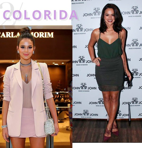 bruna marquezin - saia - colorida - looks - usar