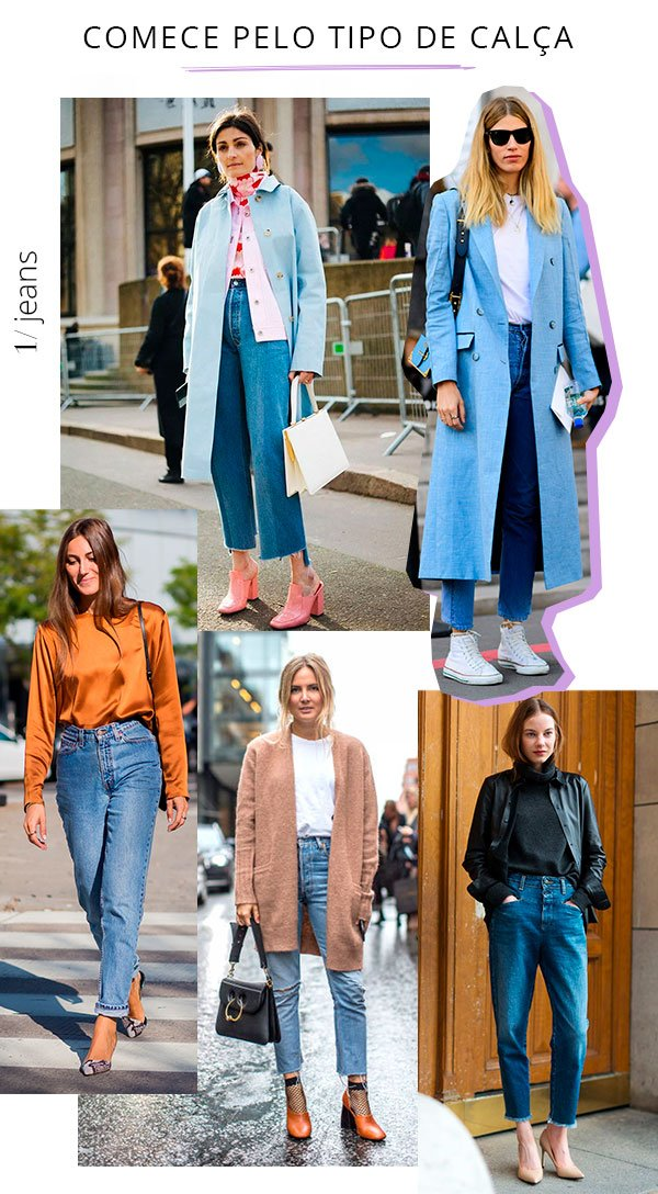 calça - jeans - cintura - alta - looks