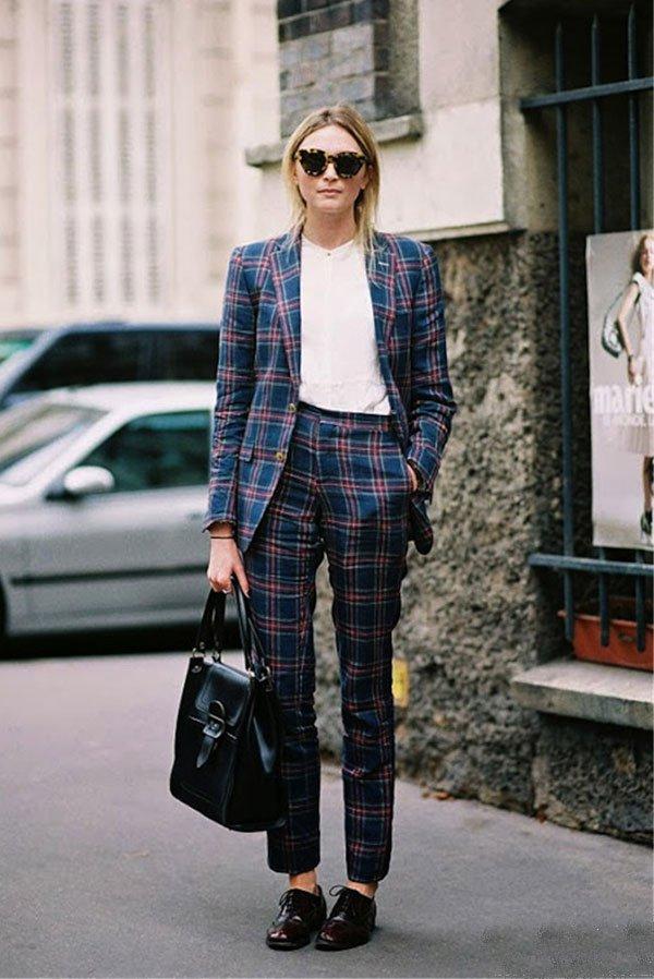 it girl - calça-de-alfaiataria-xadrez-blazer - calça de alfaiataria - inverno - street style