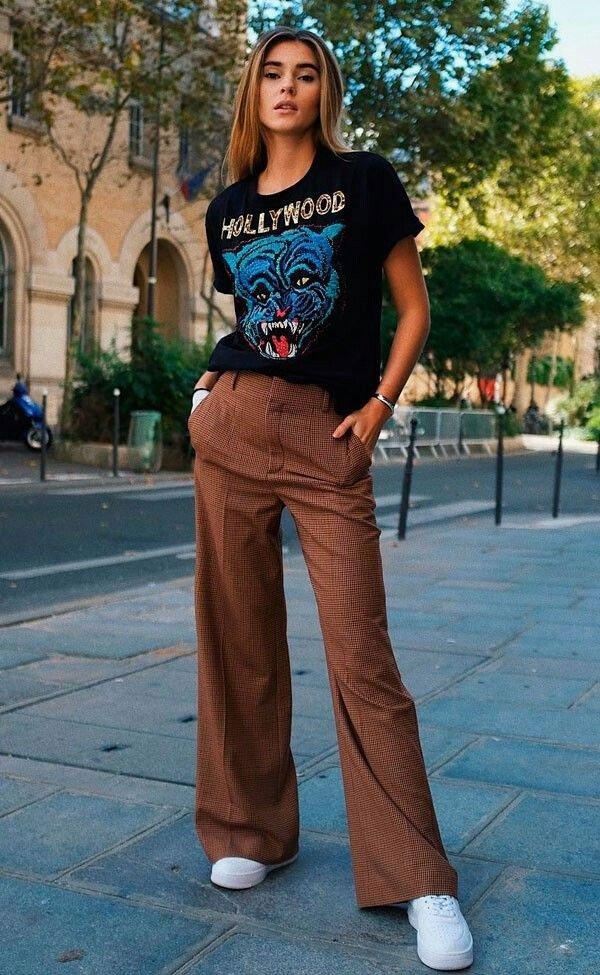 it girl - calca-pantalona-alfaiataria-camiseta-vintage - calça de alfaiataria - inverno - street style