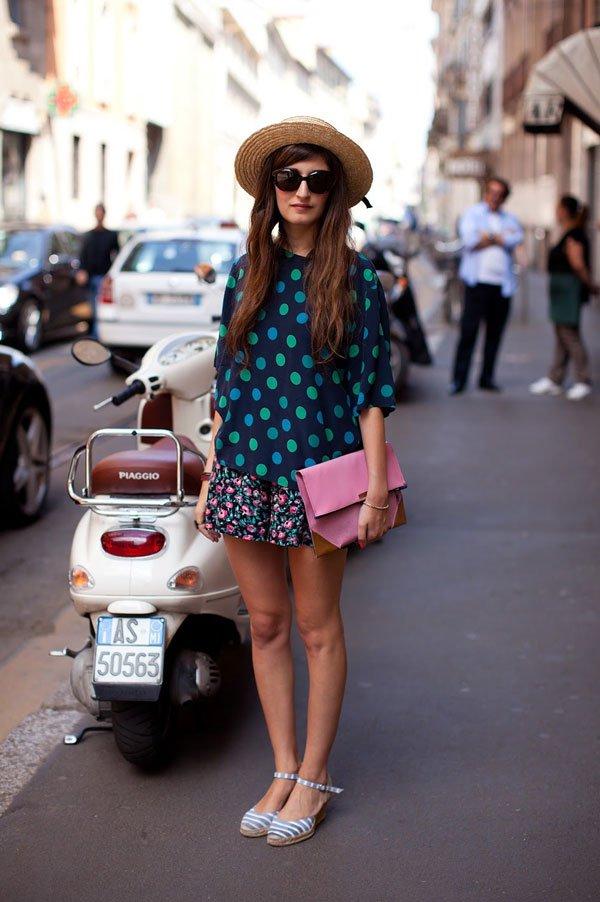 it girl - camisa-azul-bolinha-verde - poá - inverno - street style