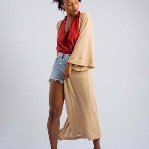Kimono Longo Tamanho: U - Cor: Dourado