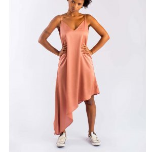 Vestido Seda Tamanho: U - Cor: Rosa