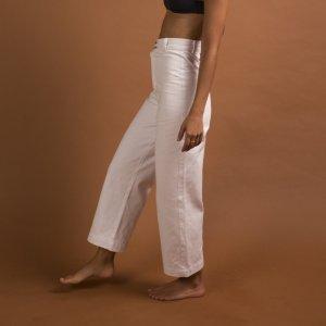 Calça Cintura Alta Branca Tamanho: Pp - Cor: Branco
