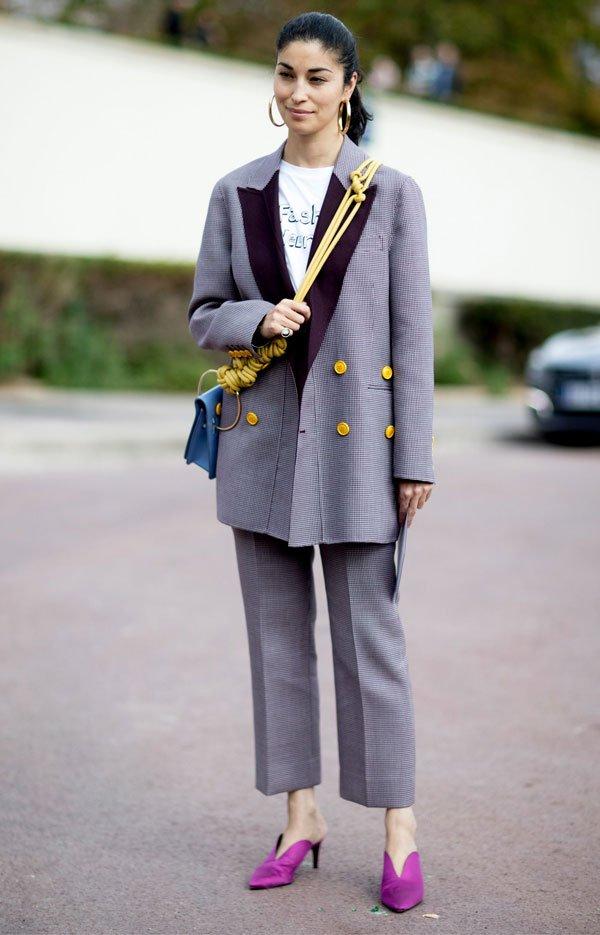it girl - conjunto-alfaiataria-mule-roxa - calça de alfaiataria - inverno - street style