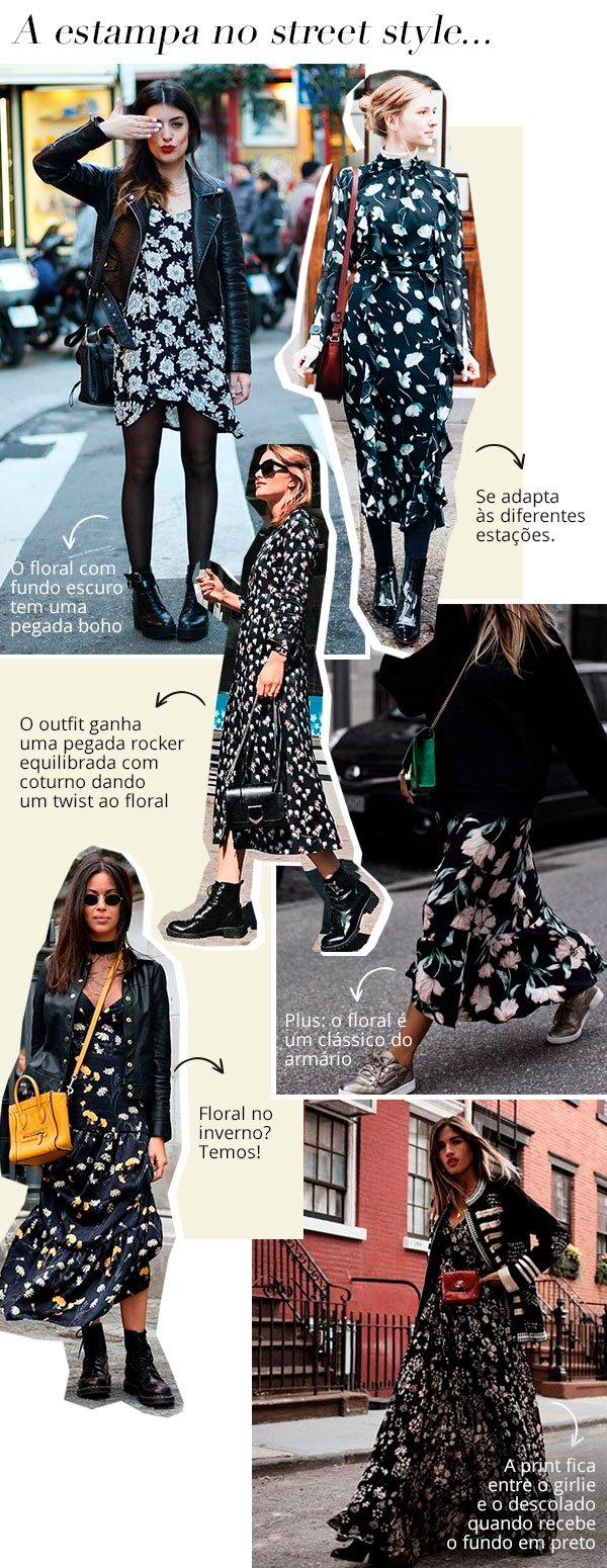 estampa - street - style - looks - floral