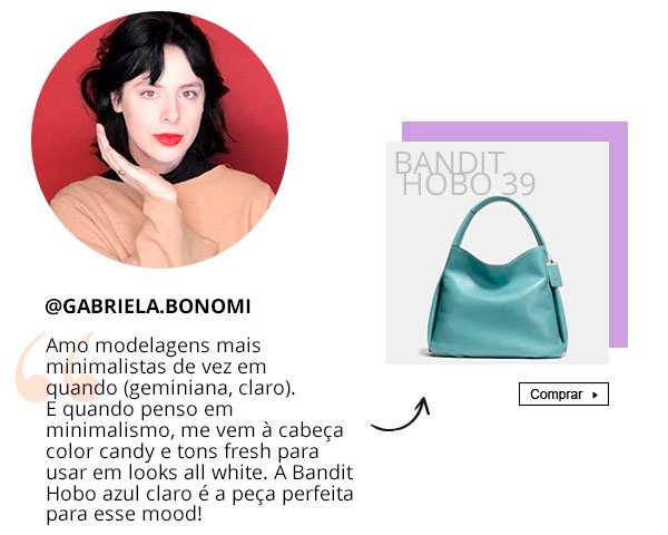 Gabriela bonomi - bolsa - namorados - presente - coach