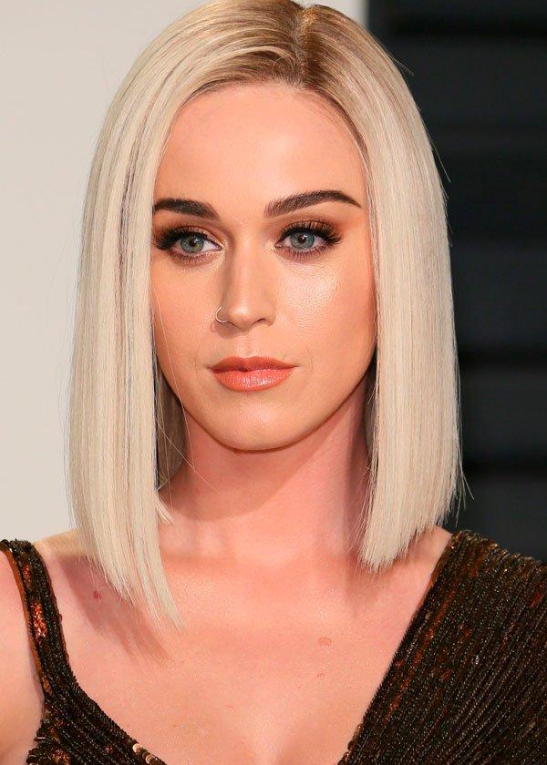 Katy Perry/Reprodução - cabelo-maquiagem-red-carpet - blunt bob - todas - red carpet