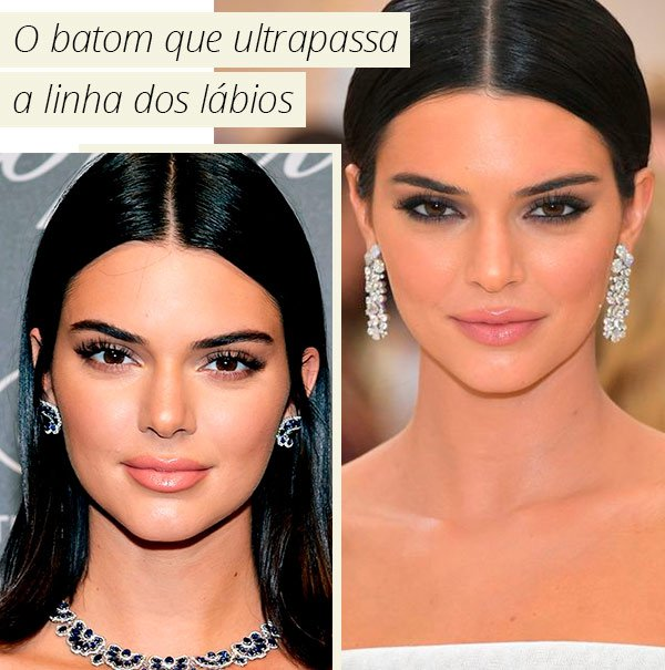 Kendall Jenner - make - batom - como fazer - truque