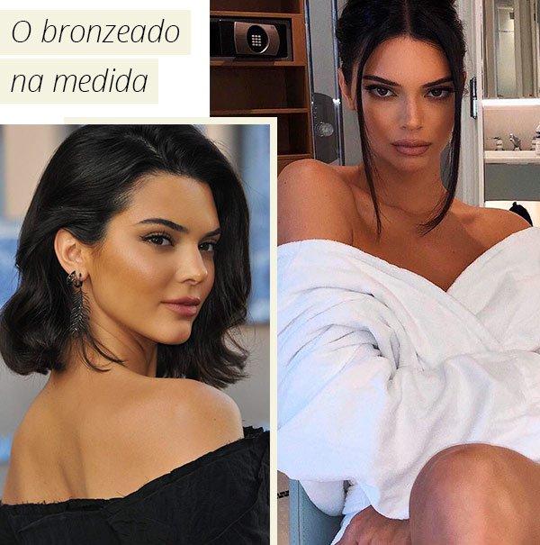 Kendall Jenner - bronzeado - pele - como fazer - truque
