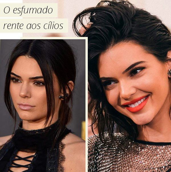Kendall Jenner - make - olho - esfumado - sombra