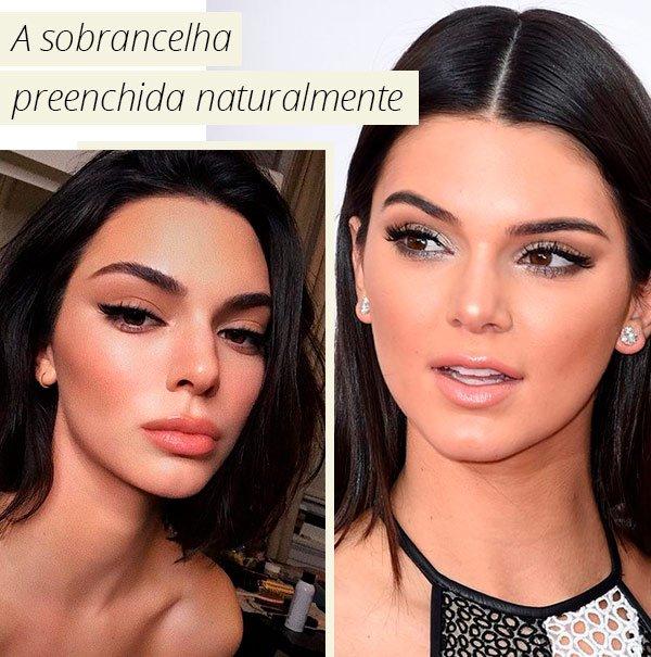 Kendall Jenner - sobrancelha - make - como fazer - truque