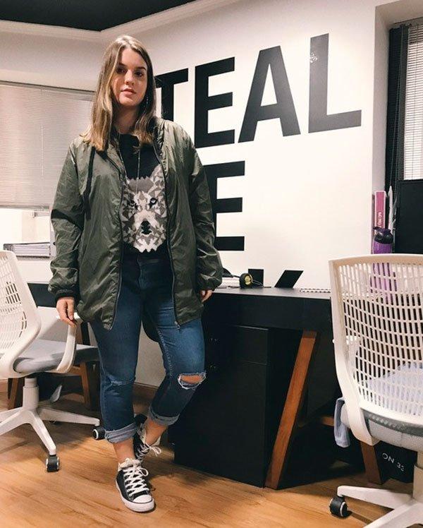 @LaraLincoln - sueter-tricot-parka-calça-jeans - parka - inverno - estúdio