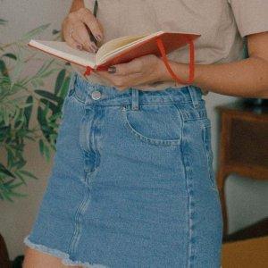 Saia Jeans Curtinha Blue Tamanho: Pp - Cor: Azul