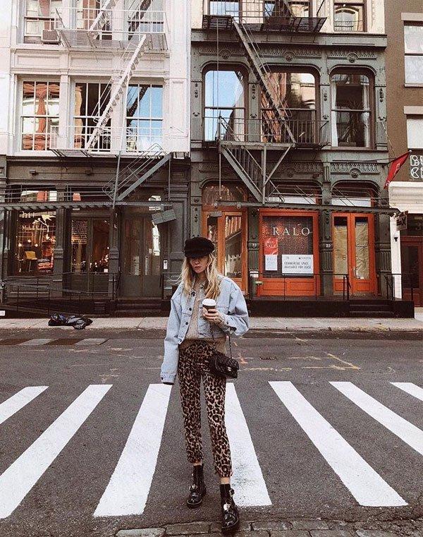 Marie von Behrens - tricot-jaqueta-jeans-calça-oncinha - calça-oncinha - inverno - street style