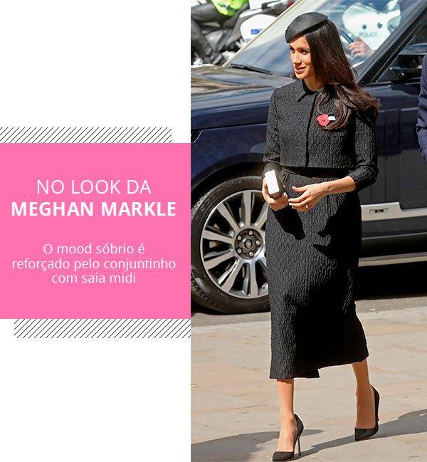 meghan markle - look - saia lapis - trend - look