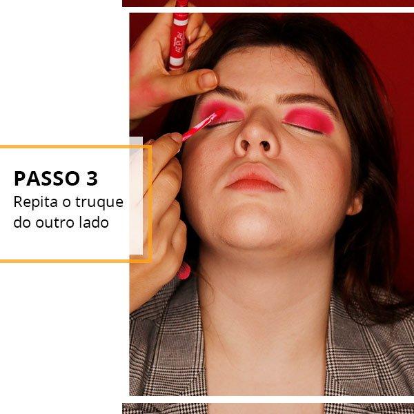 passo 3 - batom - sombra - make up - como fazer