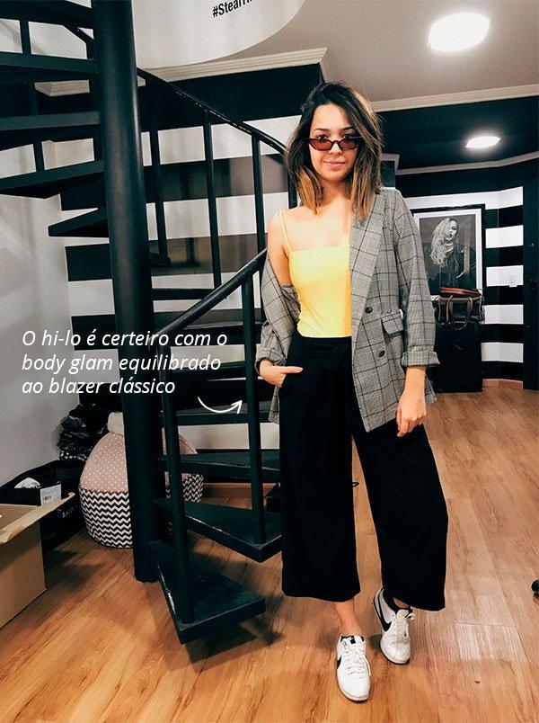 samara amorim - look - blazer - body - amarelo