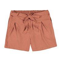 Shorts Feminino Em Tecido De Viscose Com Amarração Frontal