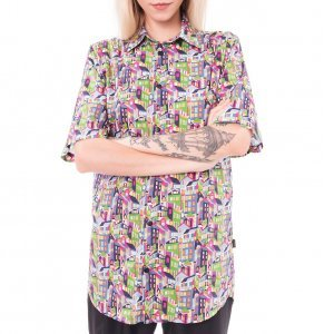 Camisa Oversized City Liberty London Tamanho:  Pp - Cor:  Multicolorido