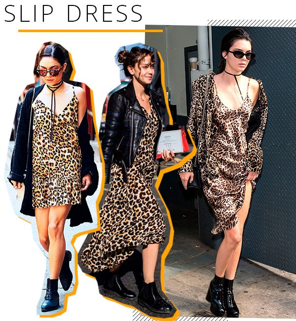 slipdress - oncinha - animal print - looks - trend
