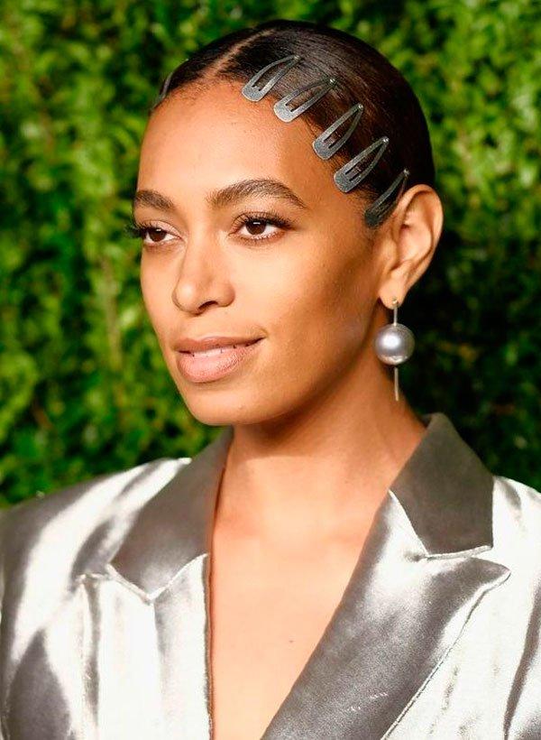 Solange Knowles/Reprodução - cabelo-fios-tic-tac-evento-penteado - grampos - verão - evento