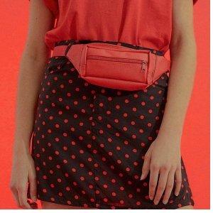 Saia Poliana Black & Red Tamanho: 34 - Cor: Vermelho