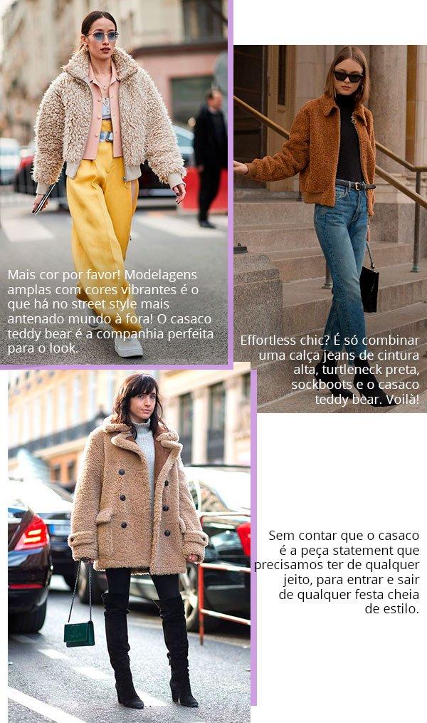 it girl - casaco-teddy-bear-saia-listrada - casaco - inverno - street style