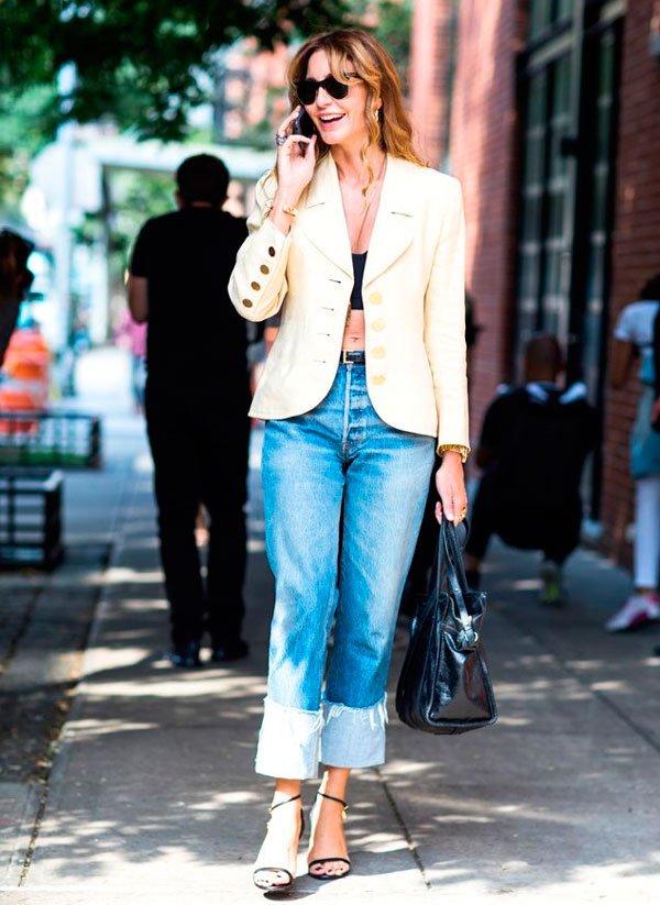 it-girl - top-cropped-blazer-calca-cintura-alta - calça cintura alta - verão - street style
