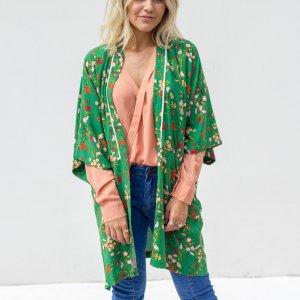 Kimono Crepe Verde Tamanho: U - Cor: Verde