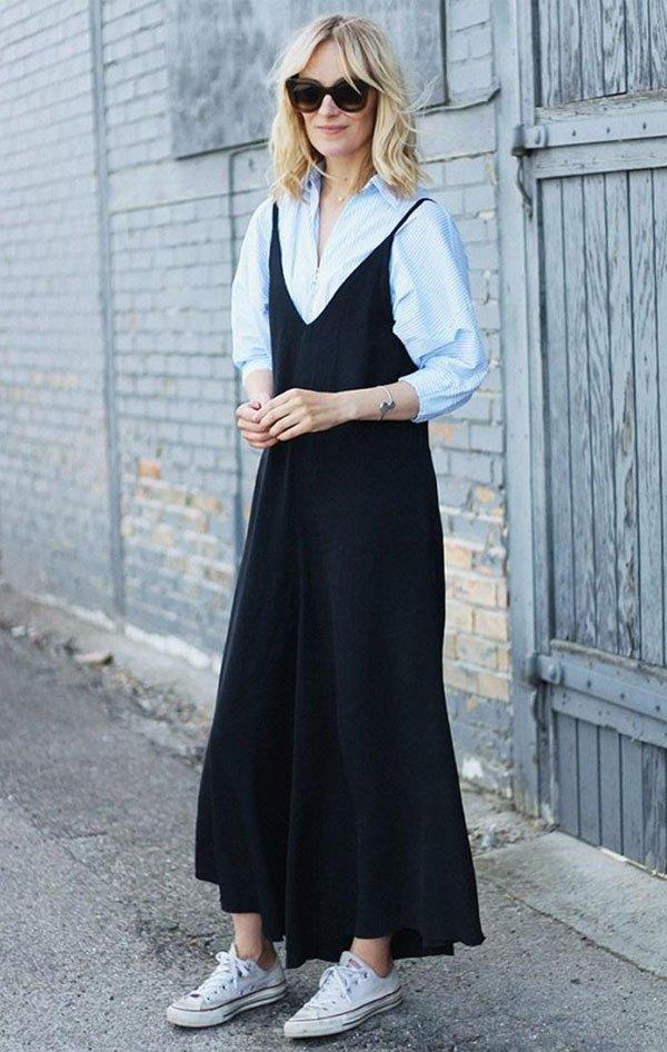 it girl - vestido-preto-alcinha-camiseta-branca - vestido  - inverno - street style